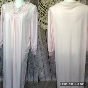 Vintage Pink Flannel 2x Gown MADE IN USA